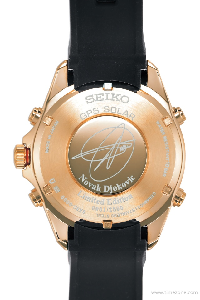 Novak Djokovic Wimbledon 2014, Seiko Wimbledon, Seiko Astron Novak, Seiko Astron GPS Solar Chronograph Novak Djokovic