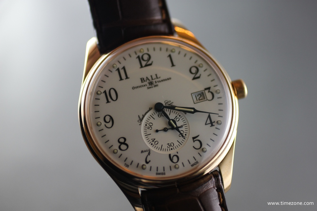 Ball Trainmaster Standard Time, Ball Watch enamel, Ball NM3888D-PG-LCJ, NM3888D-PG-LCJ-WH