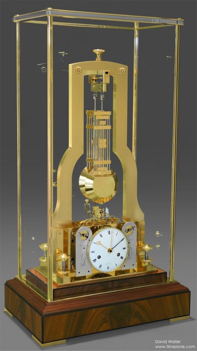 David Walter Double Pendulum Table Clock, Double Pendulum, David Walter Clock, resonance clock, Janvier resonance Clock