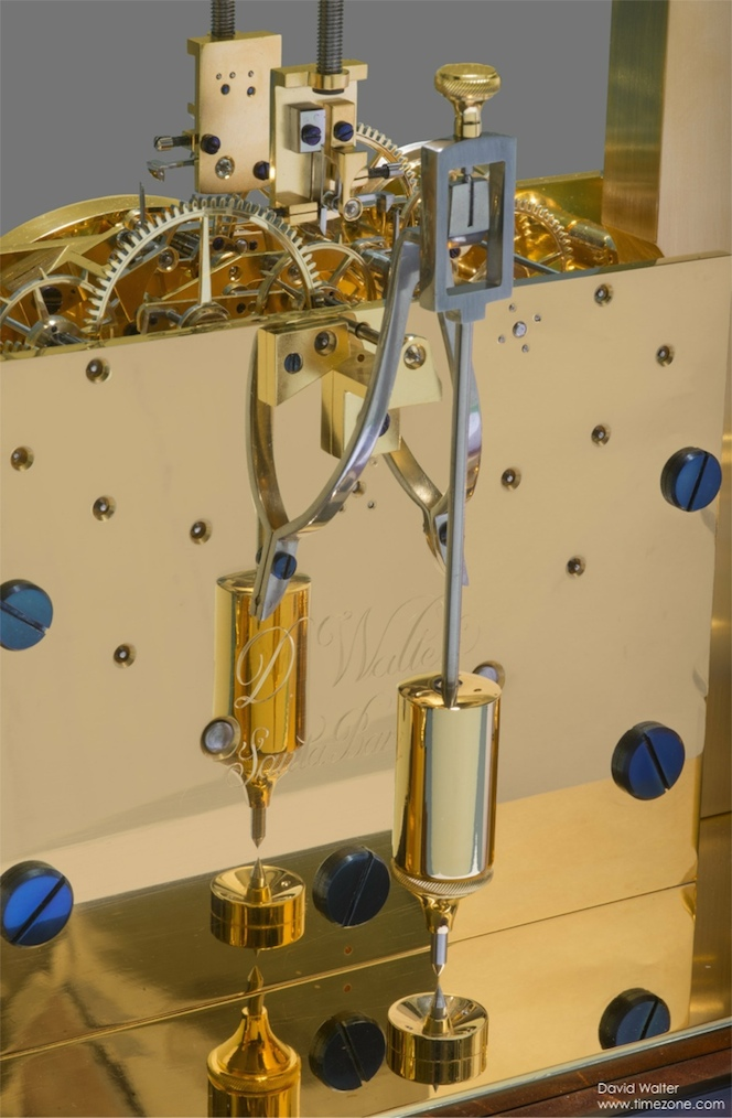 David Walter Double Pendulum Table Clock, Double Pendulum, David Walter Clock, Janvier Clock