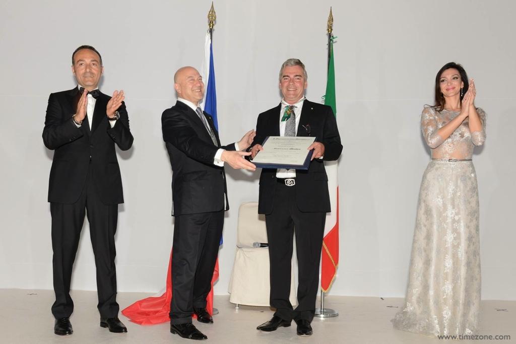 Franck Muller Order of Merit,  Cavaliere Franck Muller, Franck Muller Cavaliere Ufficiale Ordine al Merito della Repubblica Italiana, Franck Muller Antonio Morabito, Franck Muller Monaco