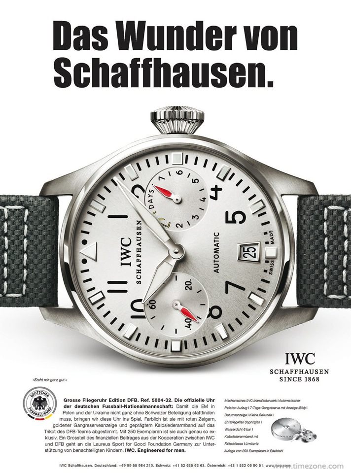 Joachim Loew IWC, Pilot's Watch Double Chronograph Edition DFB, Official Watch of the German National Football Association