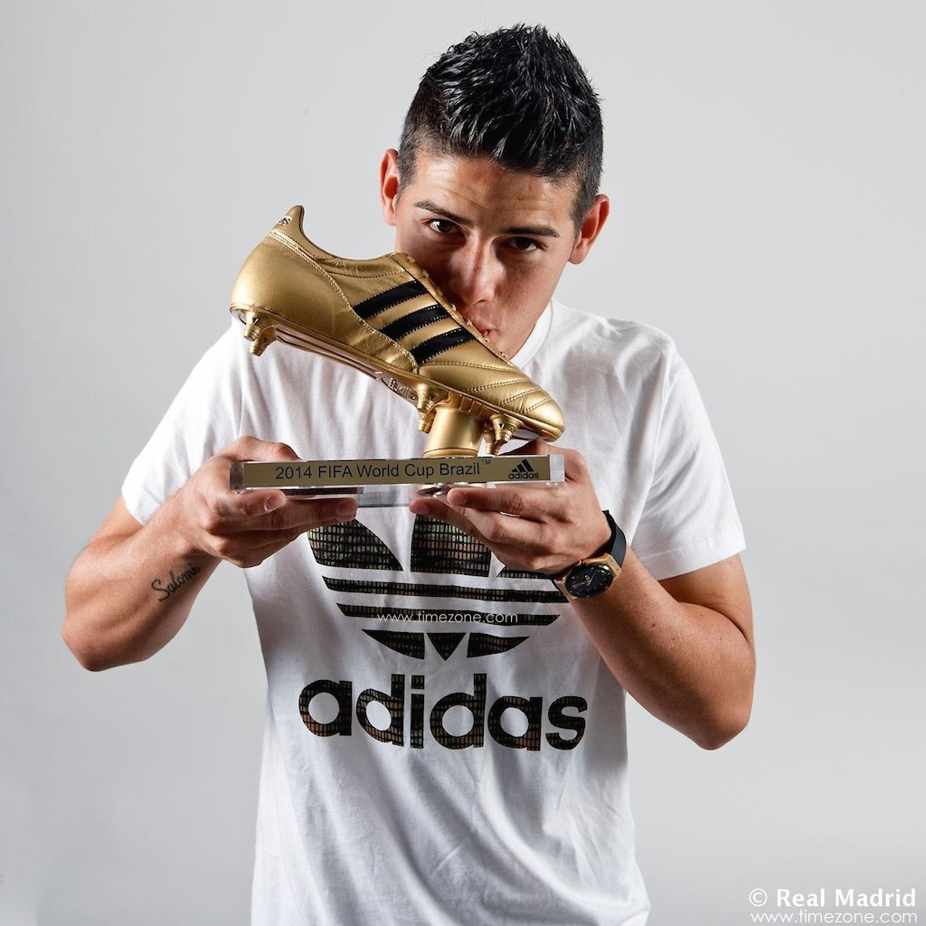 James Rodriguez Hublot Classic Fusion, Botin de Oro, James Rodriguez Golden Foot