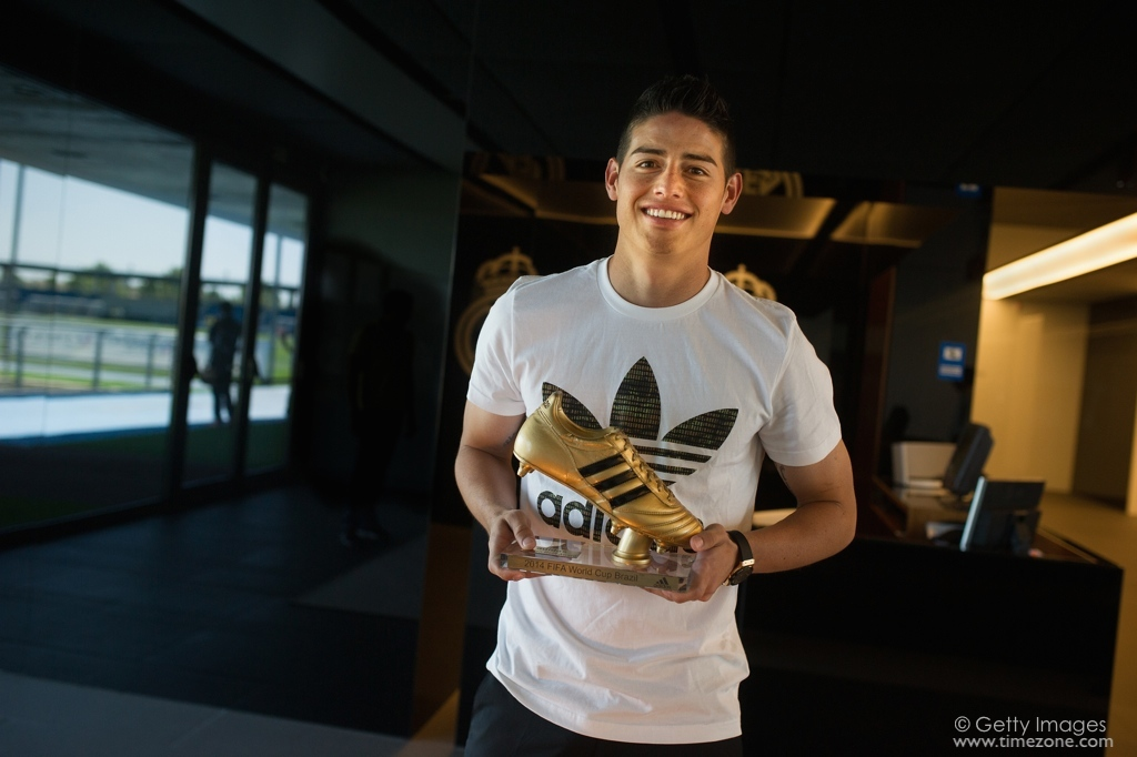 James Rodriguez, James Rodriguez Hublot, Botin de Oro, James Rodriguez Golden Foot