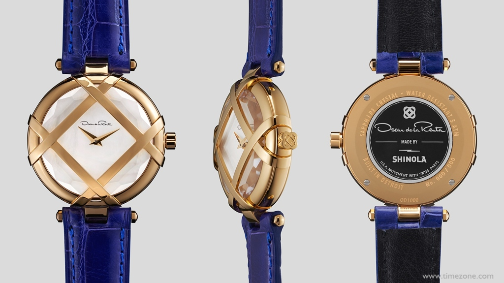 Oscar de la Renta Shinola, Shinola Lattice gold