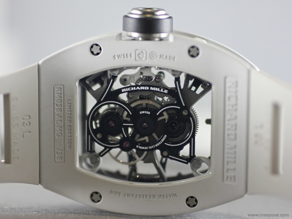 Bubba Watson Richard Mille, Richard Mille RM 038 Tourbillon, RM038 Bubba, spline screws