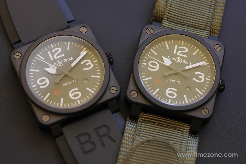 Bell & Ross BR 03-92 Military, BR 03-92 Military Type, BR0392-MIL-CE, Bell Ross Novelties 2015, Bell Ross BR03-92