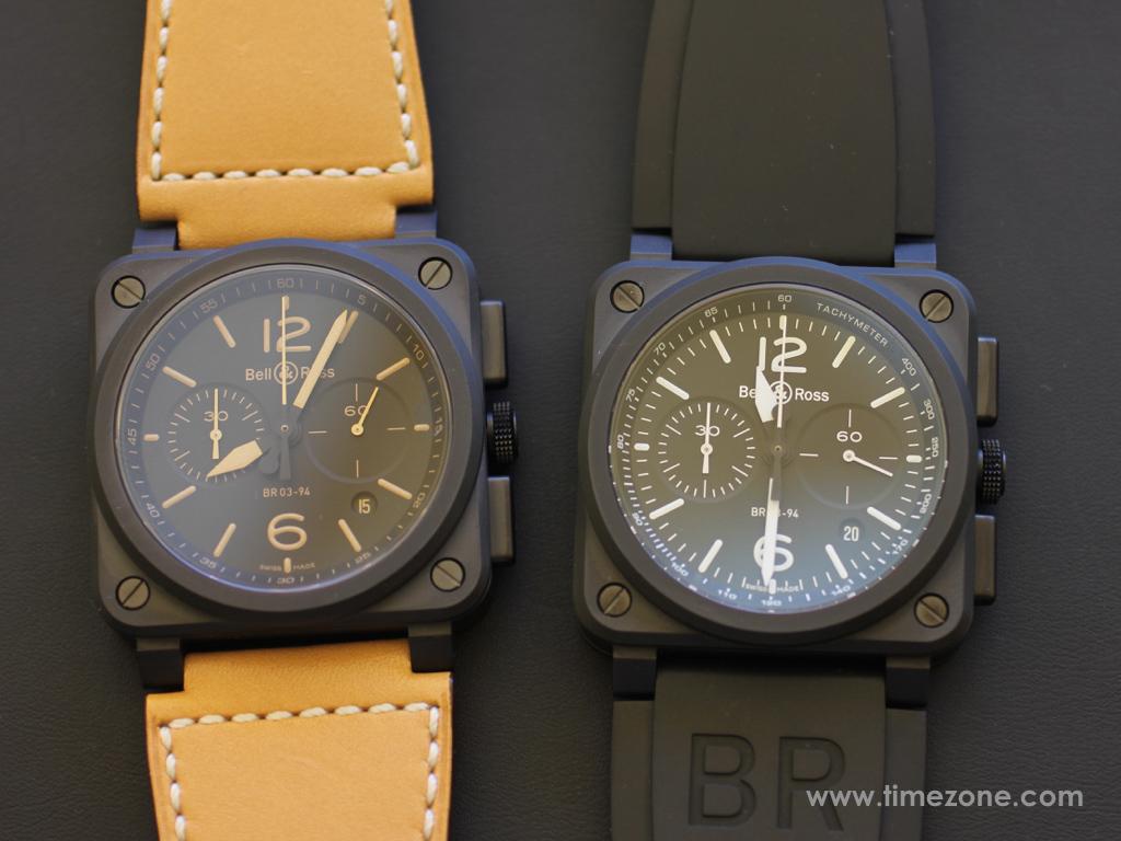 Bell & Ross BR 03-94 Ceramic, BR 03-94 chronograph, BR0394-HERI-CE, BR0394-BL-CE, Bell Ross Novelties 2015, Bell Ross BR03-94
