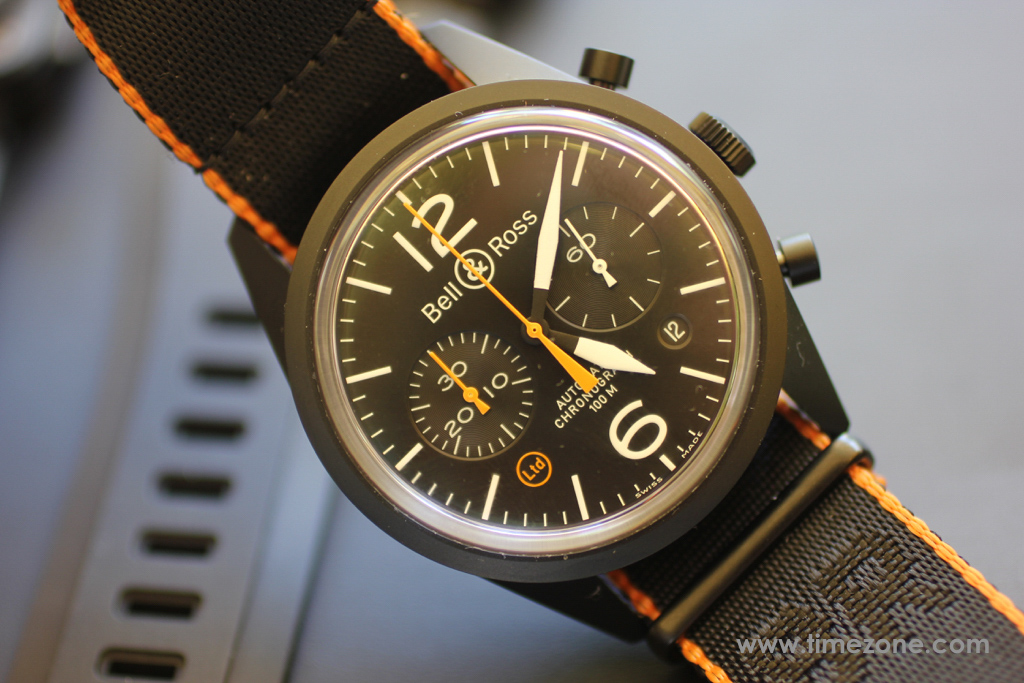 Bell & Ross Vintage Collection, Vintage BR 126 Carbon Orange, BRV126-O-CA, Bell Ross Novelties 2015, Bell Ross round