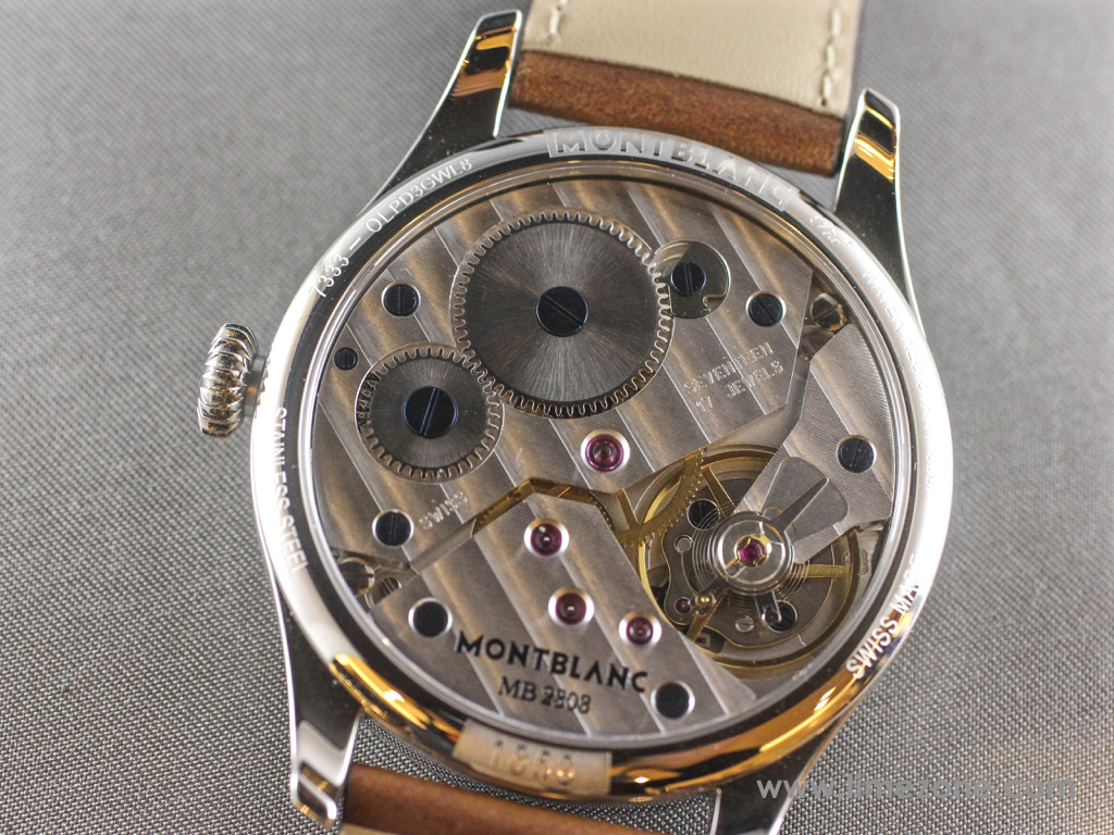 Montblanc 1858 Small Second movement, Montblanc 1858 Small Second review, Montblanc 1858 Small Seconds review, Montblanc Pilot watch, Montblanc 1858 Small Seconds, Montblanc 112638, Caliber MB 23.03, Montblanc Unitas, Montblanc Minerva review, Montblanc Villeret review, Montblanc watch review