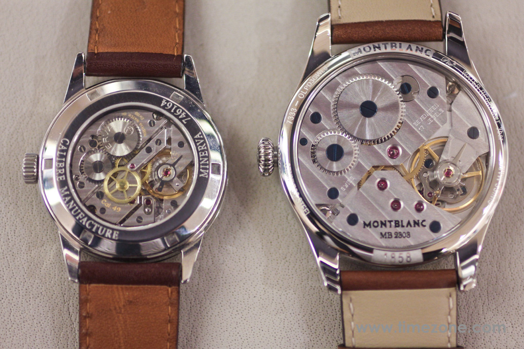 Montblanc 1858 Small Second movement, Montblanc 1858 Small Second review, Montblanc 1858 Small Seconds review, Montblanc Pilot watch, Montblanc 1858 Small Seconds, Montblanc 112638, Caliber MB 23.03, Minerva caliber 49, Montblanc Unitas, Montblanc Minerva review, Montblanc Villeret review, Montblanc watch review