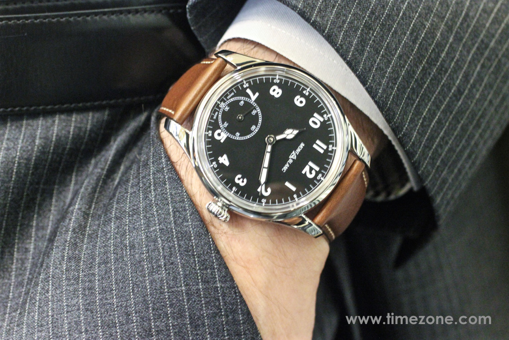 Montblanc 1858 Small Second case, Montblanc 1858 Small Second review, Montblanc 1858 Small Seconds review, Montblanc Pilot watch, Montblanc 1858 Small Seconds, Montblanc 112638, Caliber MB 23.03, Minerva caliber 49, Montblanc Unitas, Montblanc Minerva review, Montblanc Villeret review, Montblanc watch review