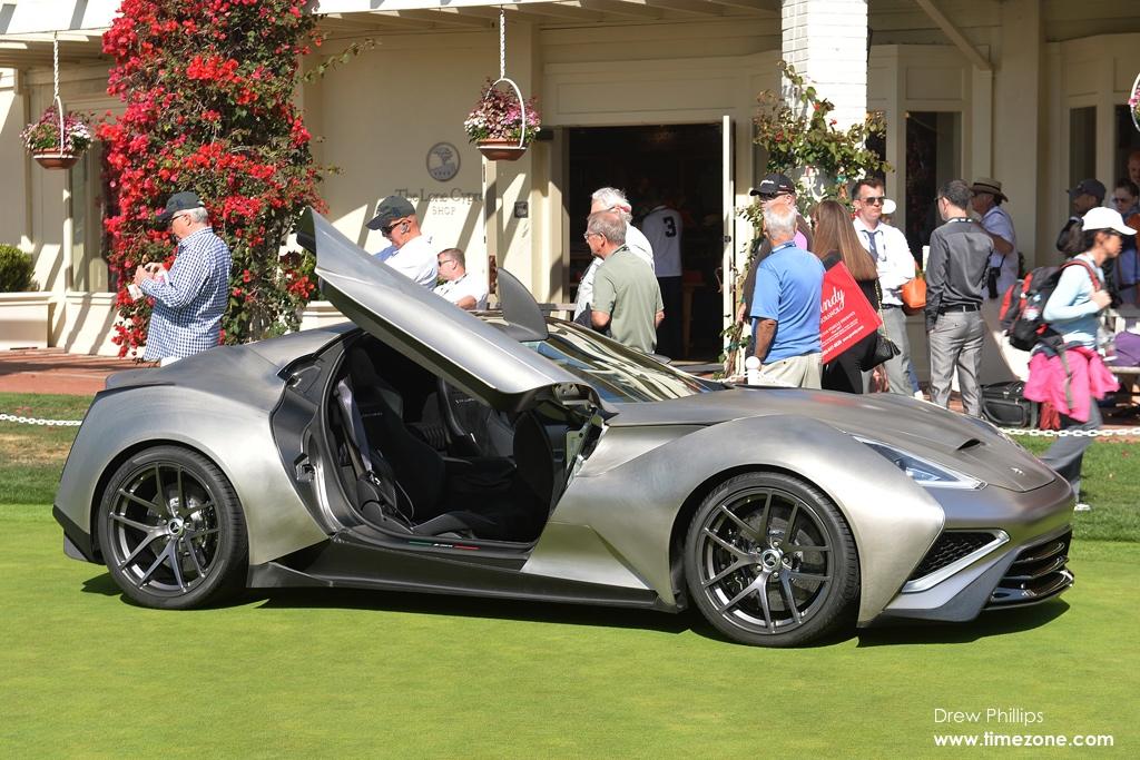 Icona Vulcano, titanium car, 2015 Pebble Beach Concours d'Elegance, Pebble Beach Concept Lawn