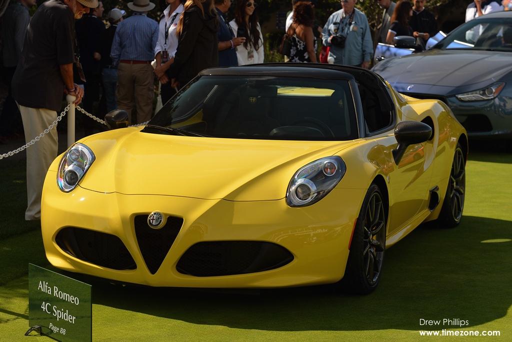 Alfa Romeo 4C Spider, Alfa Romeo Pebble Beach, 2015 Pebble Beach Concours d'Elegance, Pebble Beach Concept Lawn