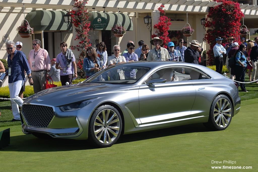 Hyundai HCD-16 Vision G Concept Coupe, Hyundai Pebble Beach, 2015 Pebble Beach Concours d'Elegance, Pebble Beach Concept Lawn