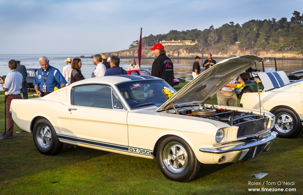 Bobby Rahal Shelby GT350, 1965 Shelby GT350, GT350H, Shelby GT350 Mustang 50th Anniversary, Shelby GT350 Pebble Beach, 65th Annual Pebble Beach Concours d'Elegance, 2015 Pebble Beach Concours d'Elegance