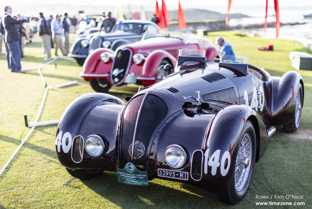 1938 Alfa Romeo 6C 2300B MM Touring-style Spider Corsa, Alfa Romeo 6C, Alfa Romeo Pebble Beach, 65th Annual Pebble Beach Concours d'Elegance, 2015 Pebble Beach Concours d'Elegance