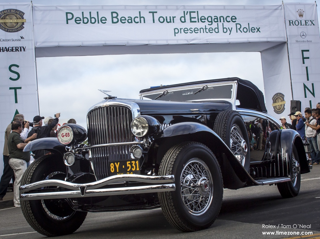 1934 Duesenberg J Walker-LaGrande Convertible Coupe, 1934 Duesenberg, Duesenberg J Walker-LaGrande, Pebble Beach Tour d'Elegance, 2015 Pebble Beach, 2015 Tour d'Elegance