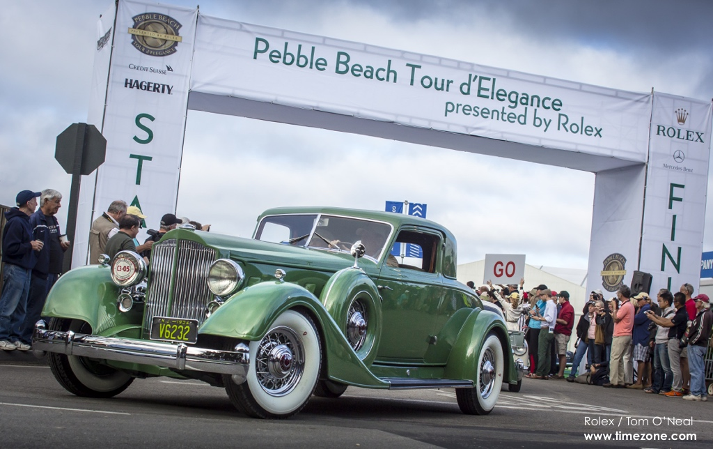 1934 Packard 1108 Twelve Dietrich Stationary Coupe, Packard 1108, Pebble Beach Tour d'Elegance, 2015 Pebble Beach, 2015 Tour d'Elegance