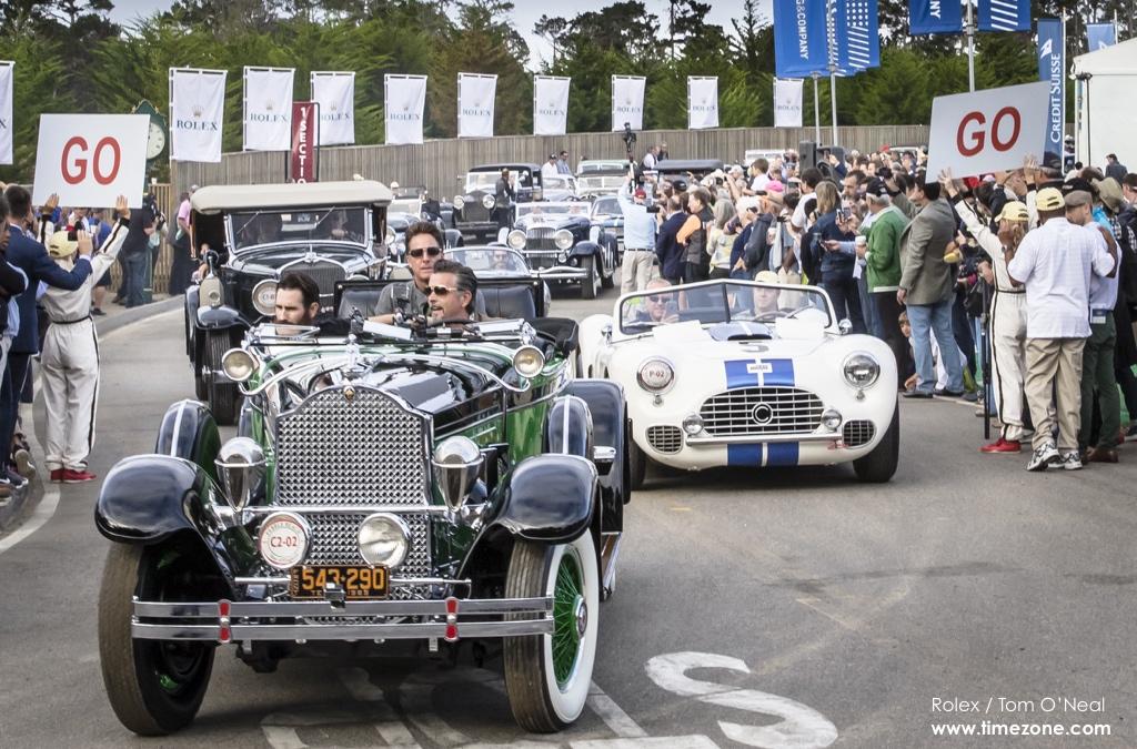 1929 Packard 645 Deluxe Eight Rollston Roadster, Packard 645, 1951 Cunningham C-2 Roadster, Cunningham C-2, Pebble Beach Tour d'Elegance, 2015 Pebble Beach, 2015 Tour d'Elegance