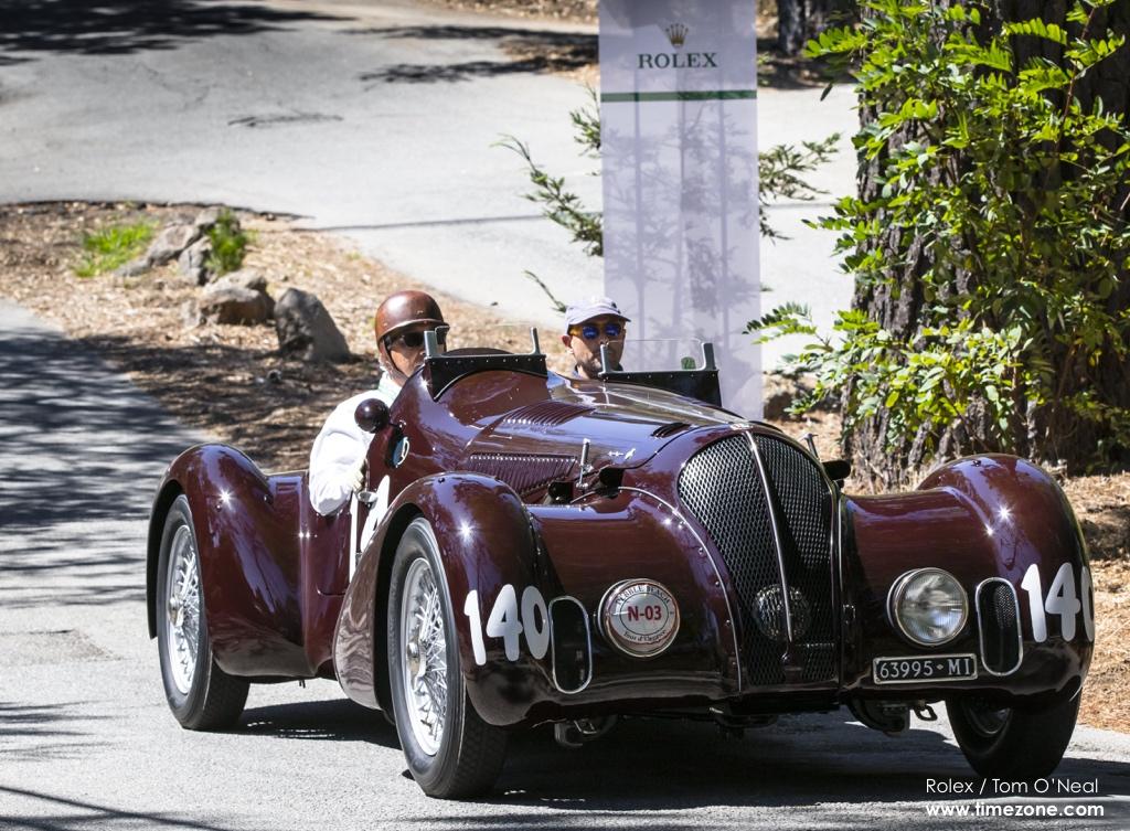 1938 Alfa Romeo 6C 2300B MM Touring-style Spider Corsa, Alfa Romeo 6C, Pebble Beach Tour d'Elegance, 2015 Pebble Beach, 2015 Tour d'Elegance