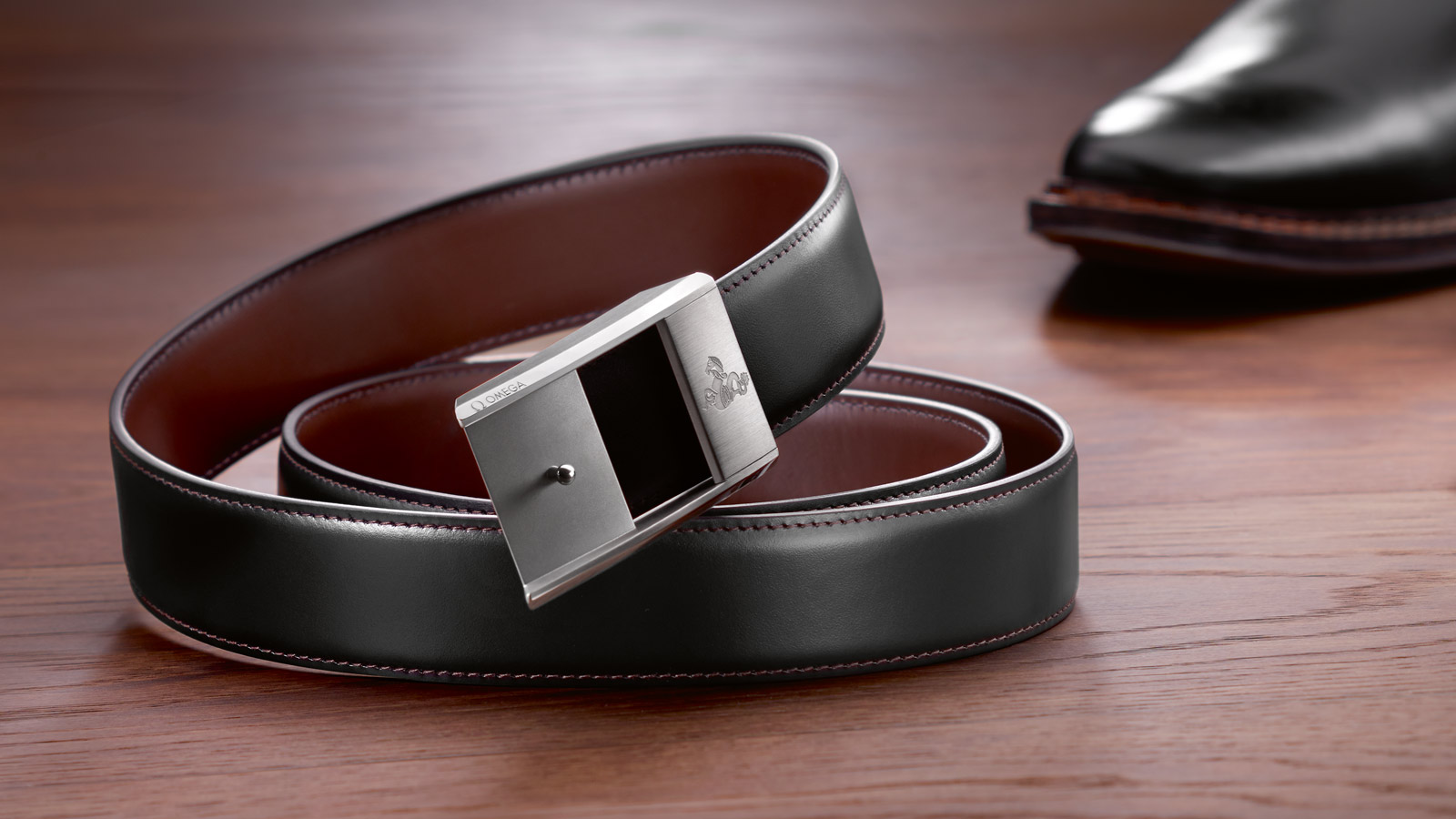 Omega fine leather belt, Omega accessories, Omega fine leather goods