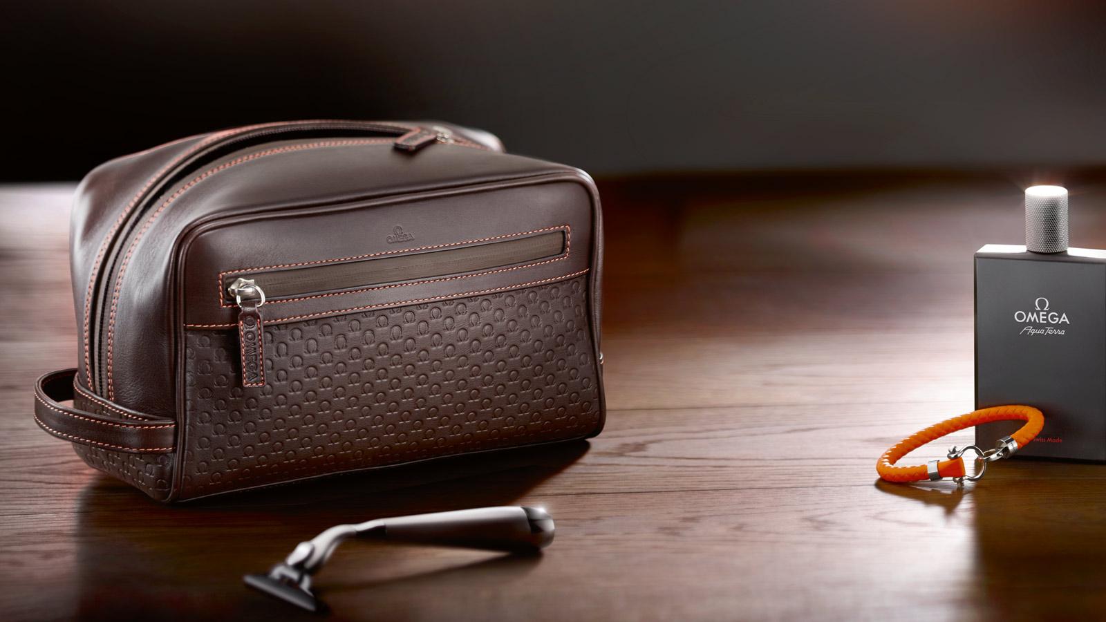 Omega dopp kit, Omega accessories, Omega fine leather goods