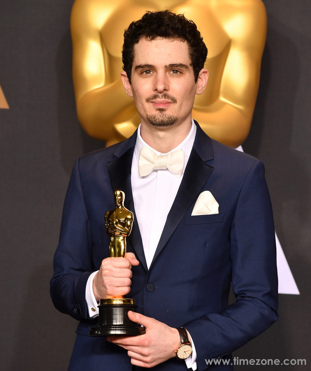Damien Chazelle Jaeger-LeCoultre,  Damien Chazelle JLC, Oscars JLC, IWC IW393402, Oscars Jaeger-LeCoultre Master Grande Ultra Thin Small Second