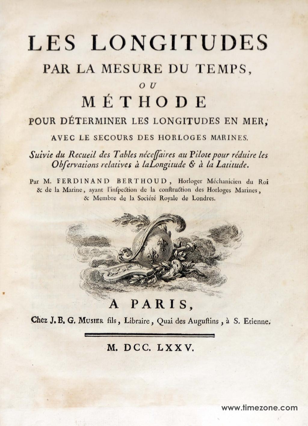 La Longitude en Mer à l'Heure de Louis Berthoud et Henri Motel