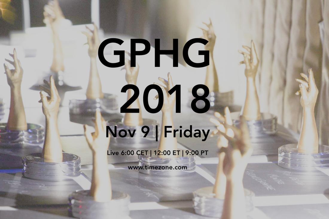 18th Grand Prix d'Horlogerie de Genève, GPHG ceremony, GPHG live
