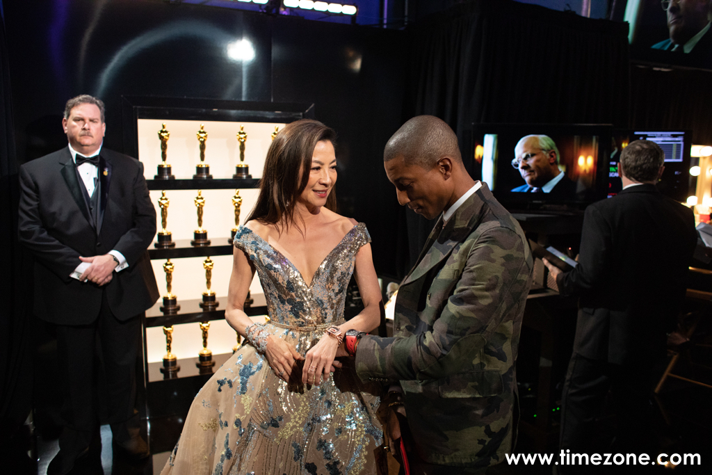 Michelle Yeoh Oscars, Pharrell Oscars Richard Mille, Michelle Yeoh Richard Mille RM07-01, Pharrell Richard Mille