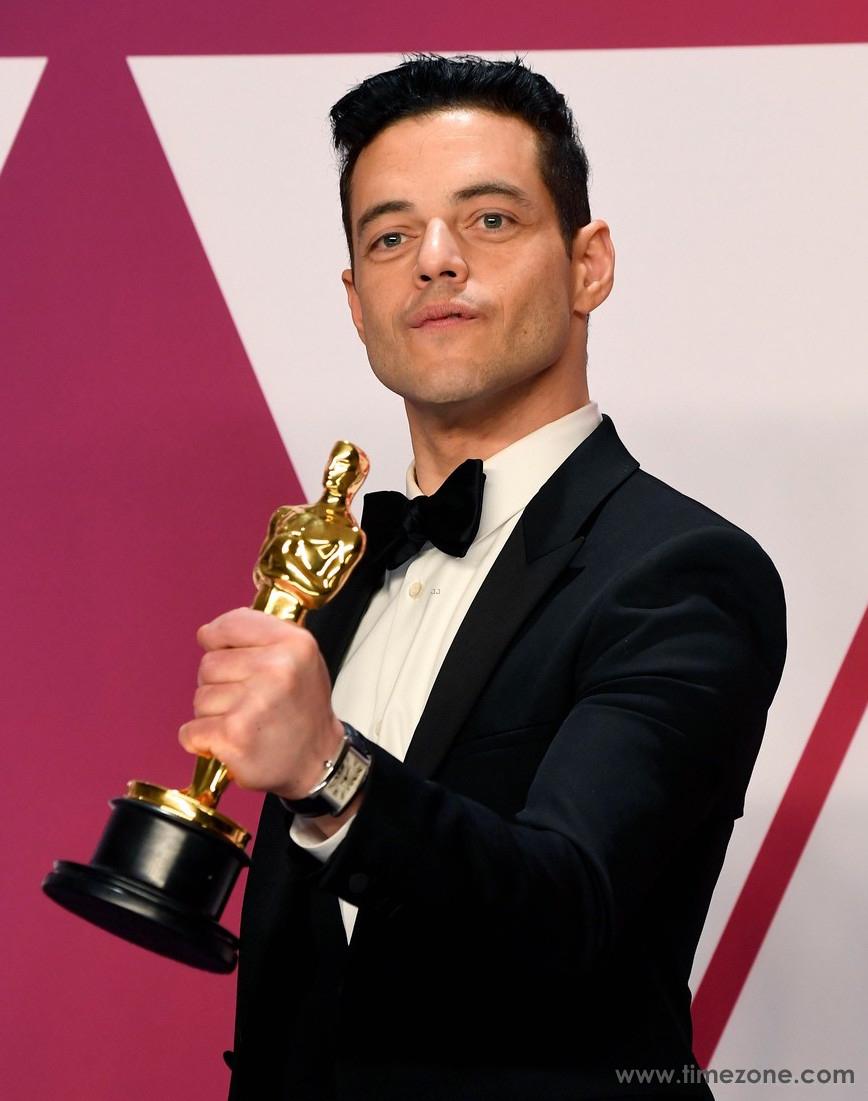 Rami Malek Cartier,  Rami Malek Cartier Tank Américaine, Oscars Cartier Tank Américaine, Academy Award Cartier