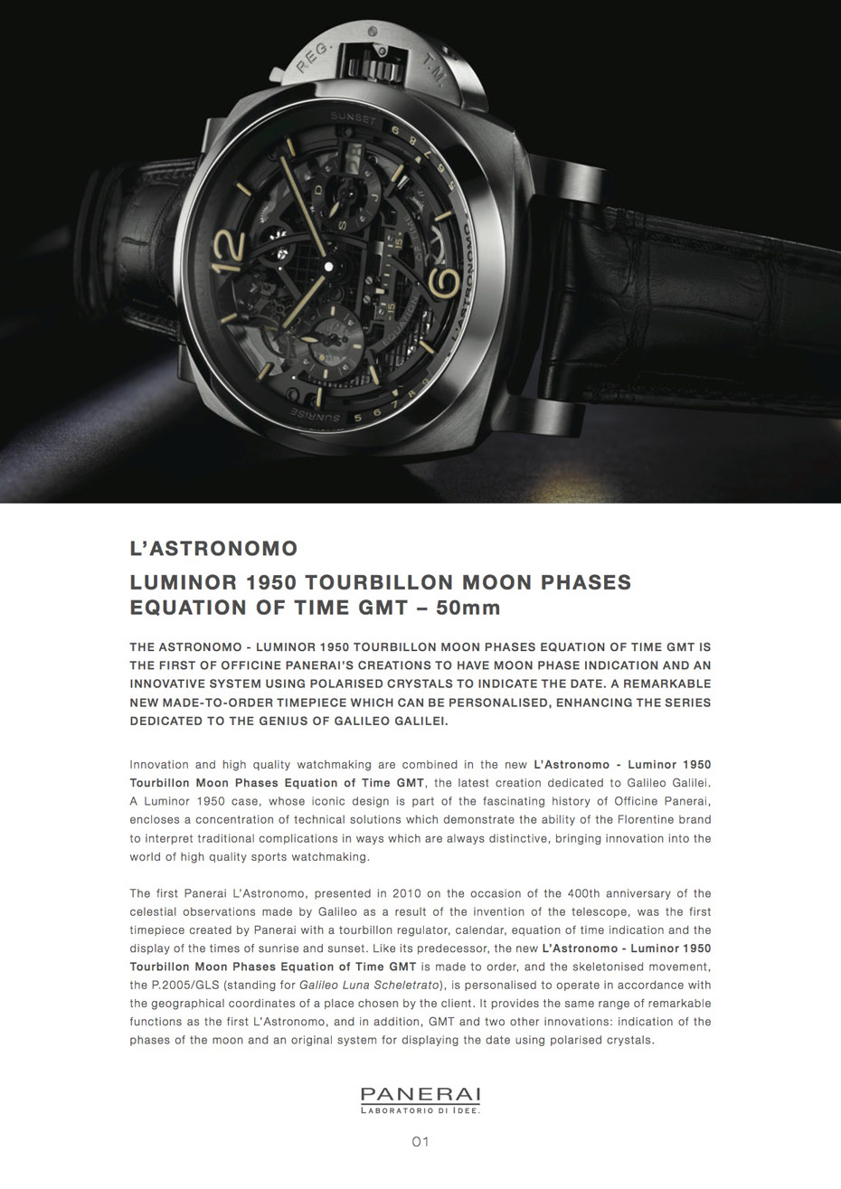 Officine Panerai Astronomo Luminor 1950, Panerai Astronomo
