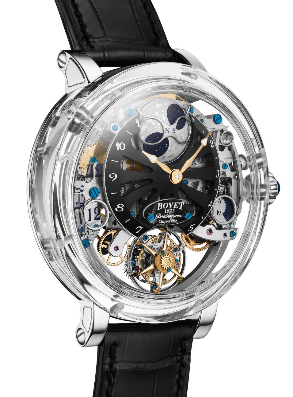 Bovet sapphire crystal case, Bovet Recital 26 Brainstorm Chapter One, Bovet Recital 26, Recital 26