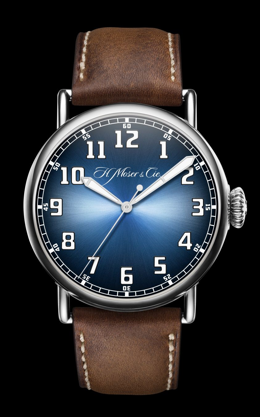 H. Moser Heritage Center Seconds Funky Blue, Moser Pilot Watch, Moser Pilot, H. Moser Pilot