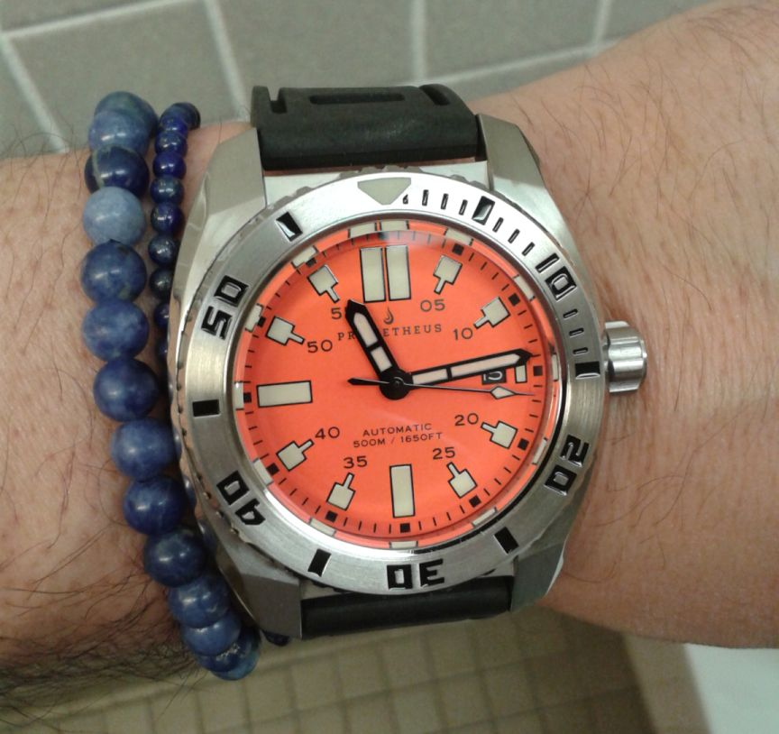 Timezone dive watches orange diver ready for summer - Orange dive watch ...