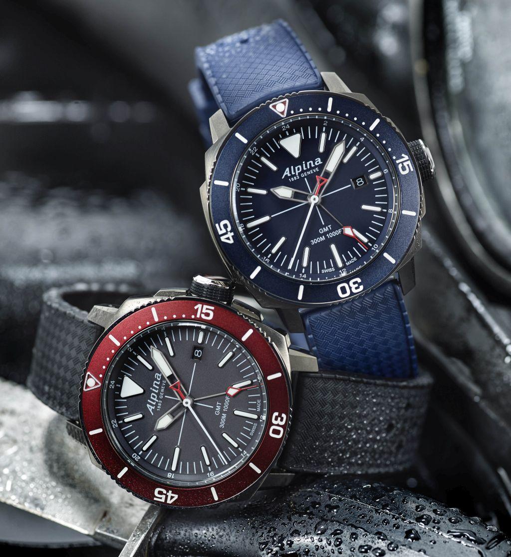 TimeZone Dive Watches N E W M O D E L Alpina Seastrong Diver GMT - Alpina gmt