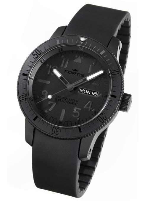 News : Fortis B-42 Black & Black Titanium Blackblack