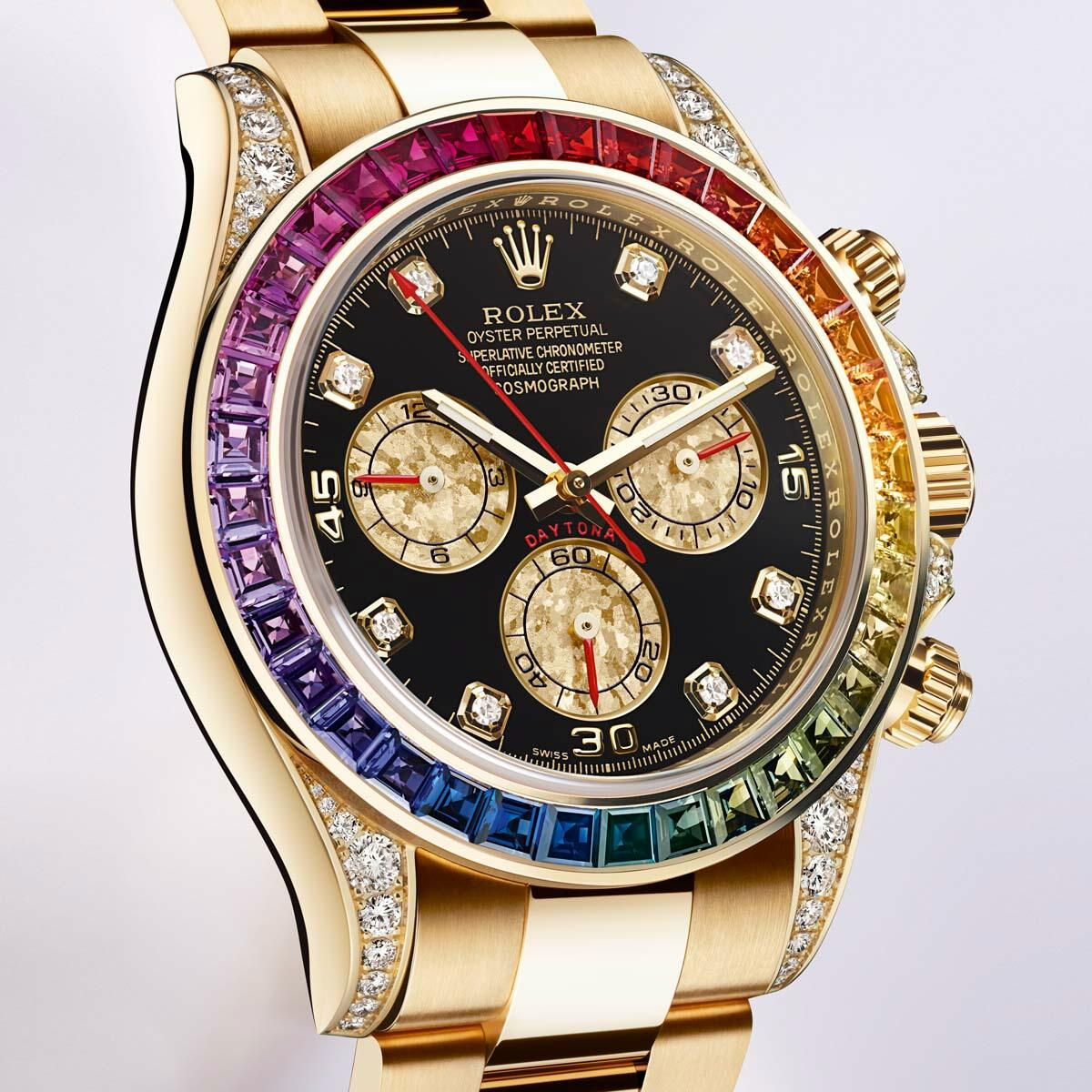 neue uhr rolex daytona rainbow. Black Bedroom Furniture Sets. Home Design Ideas