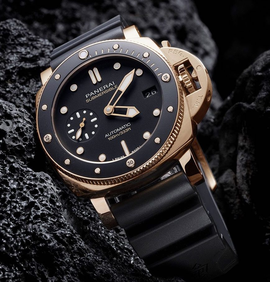 Officine Panerai Submersible Goldtech 42 PAM974, Panerai PAM974, PAM974, Panerai Goldtech, Goldtech