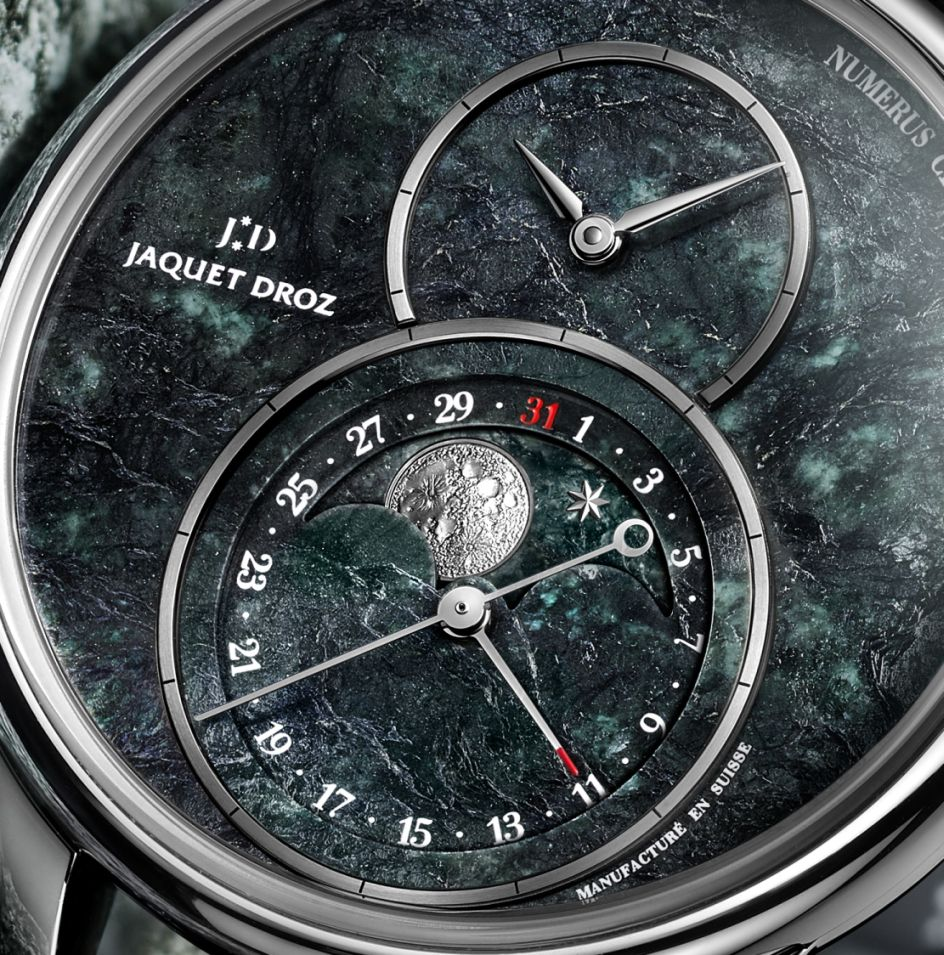 Jaquet Droz Grande Seconde Moon Swiss Serpentinite, Grande Seconde Moon, Swiss Serpentinite