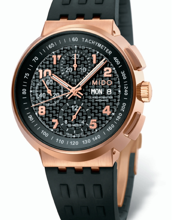 Mido - News :  Mido All Dial Carbon Chronometer Chronographe Midocarbon
