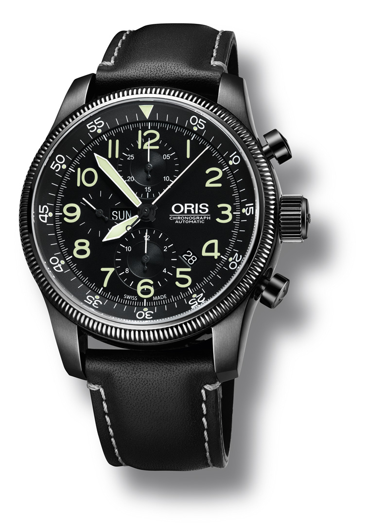 oris - nouveaute oris un gros chrono de pilote Orisblackchron1