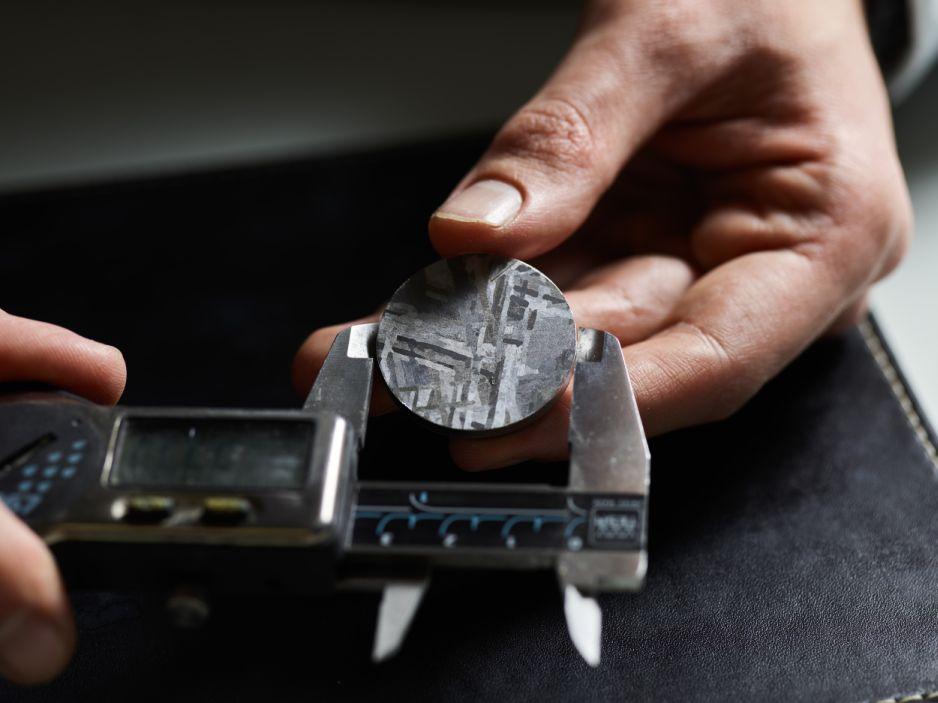 Romain Gauthier Prestige HMS Steel Meteorite, Romain Gauthier Steel, Romain Gauthier Meteorite, Henbury meteorite