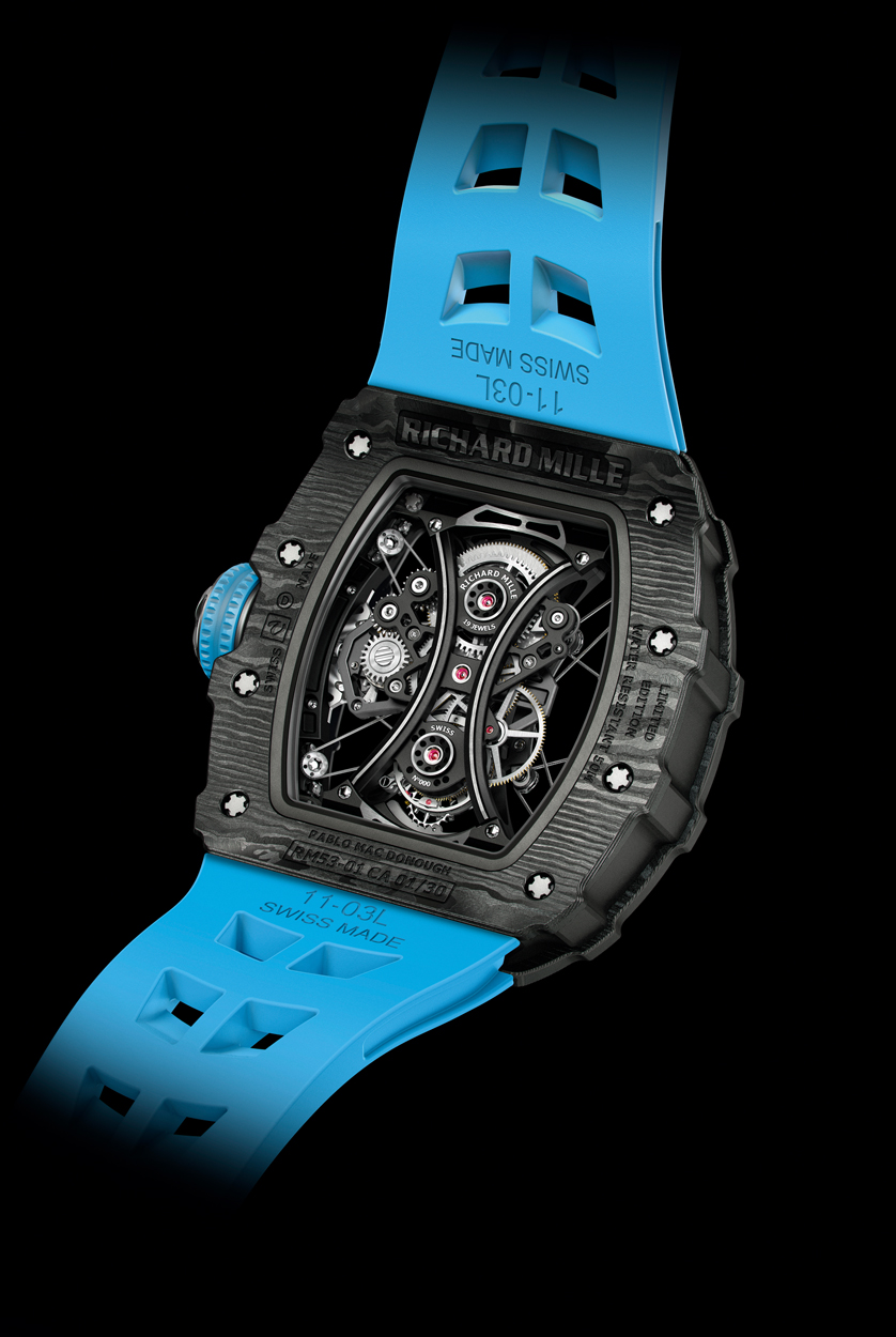 Richard Mille Tourbillon RM53-01 Pablo Mac Donough, RM53-01, Richard Mille Polo, Richard Mille Tourbillon, Richard Mille Tourbillon RM53-01 Pablo MacDonough