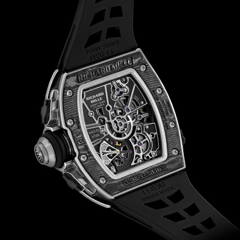 Richard Mille RM 6201 Tourbillon Vibrating Alarm for Airbus, Richard Mille RM 6201, RM6201, Richard Mille Alarm