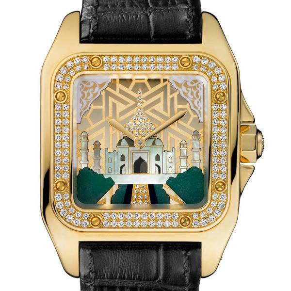 News : Cartier Santos 100 Taj Mahal Tajmahal
