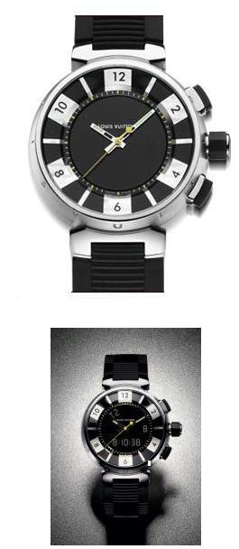 Louis Vuitton Tambour  Black Ana-Digi Tambourdigi