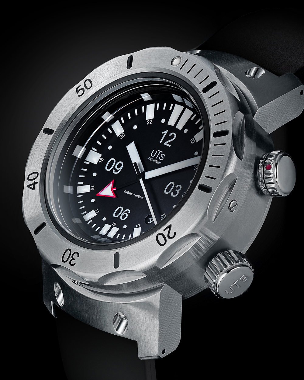 New uts 4000m gmt diver watch freeks for Dive watch