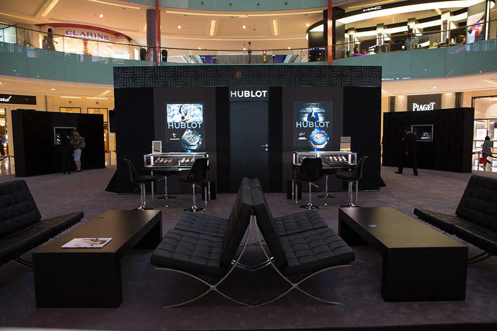 Timezone hublot hublot unveils its latest pop up store for Creative pop up shops